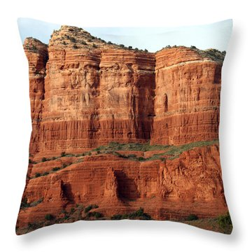 Sedona Red Throw Pillow by Debbie Hart