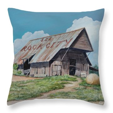 See Rock City Sold  Throw Pillow