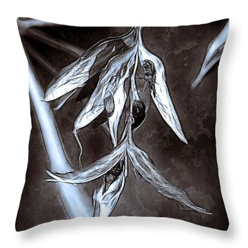 Seeds And Seedpods Throw Pillow by Judi Bagwell