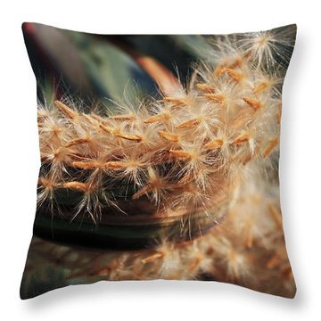 Seeds Throw Pillow by Joana Kruse