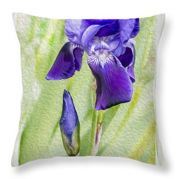 Seeing Purple Throw Pillow