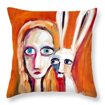 Seeking Throw Pillow by Leanne Wilkes