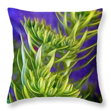 Selaginella Throw Pillow by Judi Bagwell