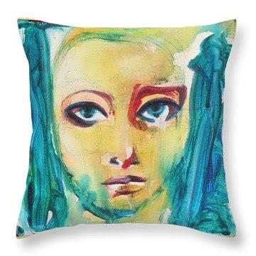 Self Portrait I  Throw Pillow by Sheridan Furrer
