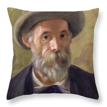 Self Portrait Throw Pillow by Pierre Auguste Renoir