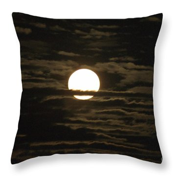 Throw Pillow featuring the photograph Seneca Lake Moon by William Norton