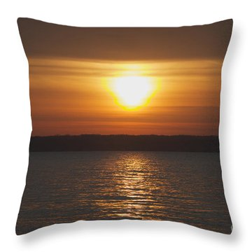 Throw Pillow featuring the photograph Seneca Lake Sunrise by William Norton