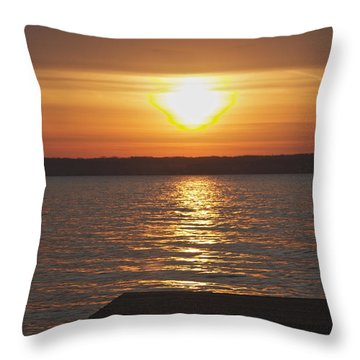 Throw Pillow featuring the photograph Seneca Lake by William Norton