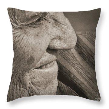 Senior Smile Throw Pillow