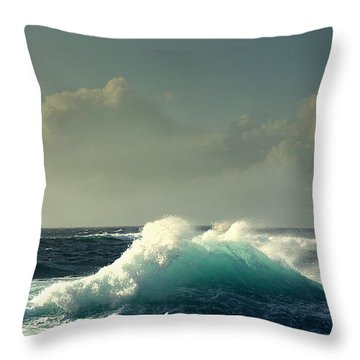 Sennen Surf Seascape Throw Pillow by Linsey Williams