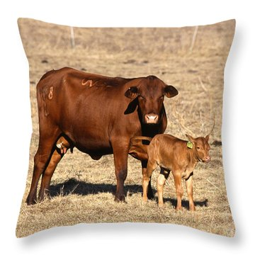 Senopol Surrogate With Calf Throw Pillow by Science Source