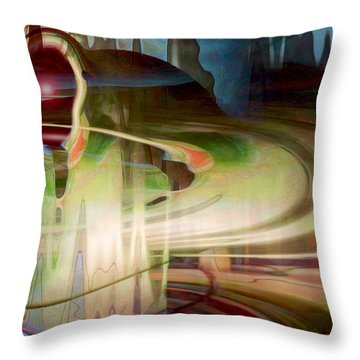 Sensing The Spheres Throw Pillow by Linda Sannuti