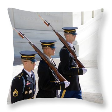 Sentinels At The Tomb Throw Pillow by Dan Wells