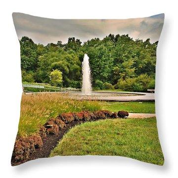 September - Garden Of Reflection Throw Pillow