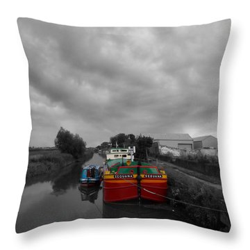 Sequana Beverley Canal Throw Pillow