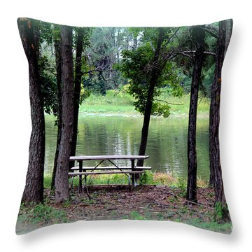 Throw Pillow featuring the photograph Serene Escape by Kathy  White