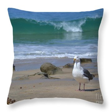 Seriously Throw Pillow by Suzette Kallen