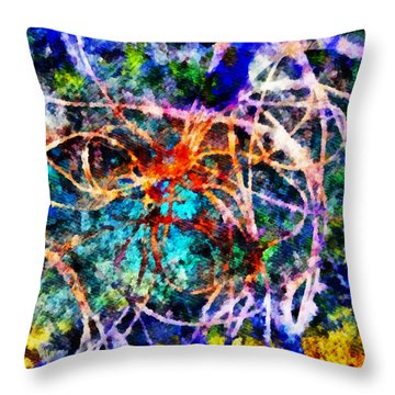Serpentine Throw Pillow by Angelina Vick