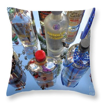 Throw Pillow featuring the photograph Set Em Up Joe by Irma BACKELANT GALLERIES