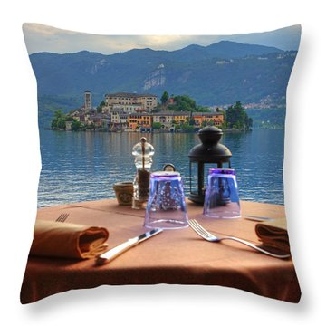 Set Table With A View Throw Pillow by Joana Kruse