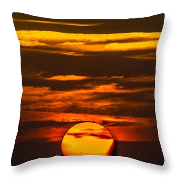 Setting Sun Flyby Throw Pillow by Shannon Harrington