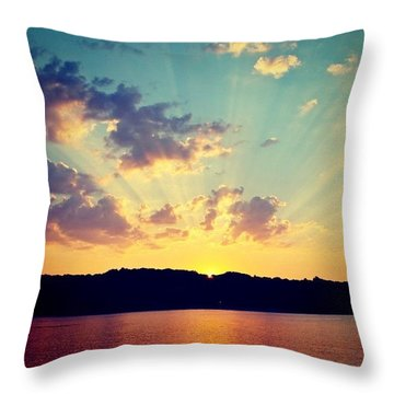 Setting Sun  Throw Pillow by Justin Connor