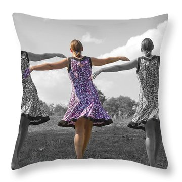 Seven  Throw Pillow by Betsy Knapp