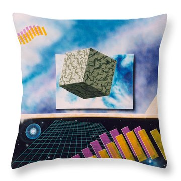 Seven Dimensions Throw Pillow