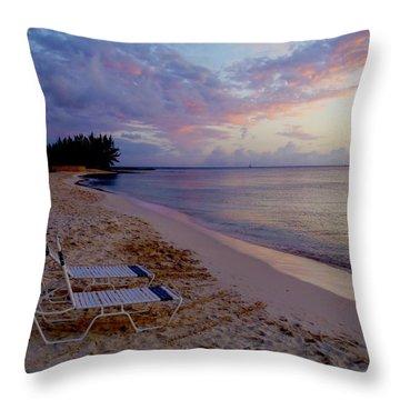 Seven Mile Beach Sunset Throw Pillow by Carey Chen