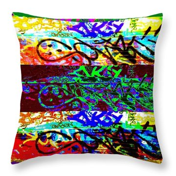 Seven Seans Throw Pillow by Randall Weidner