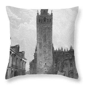 Seville: The Giralda Throw Pillow by Granger
