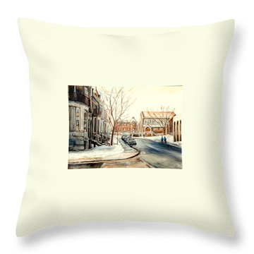 Montreal Synagogues Throw Pillows