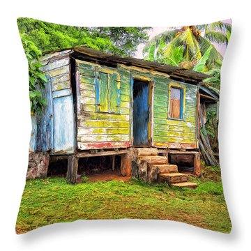 Shabby Chic Throw Pillow by Dominic Piperata