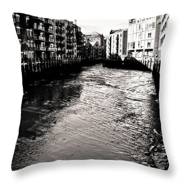 Throw Pillow featuring the photograph Shad Thames Wharf by Lenny Carter
