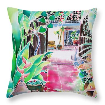 Shade In The Patio Throw Pillow