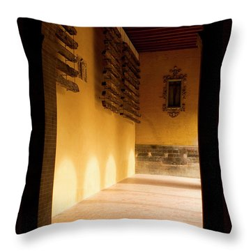 Throw Pillow featuring the photograph Shaded Portal by Lorraine Devon Wilke