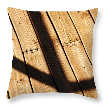 Shaded Walkway Floor Throw Pillow
