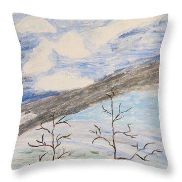 Throw Pillow featuring the painting Shades Of Nature by Sonali Gangane