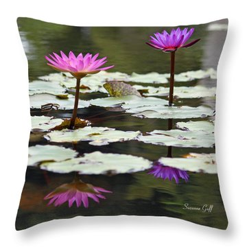 Shades Of Purple  Throw Pillow by Suzanne Gaff