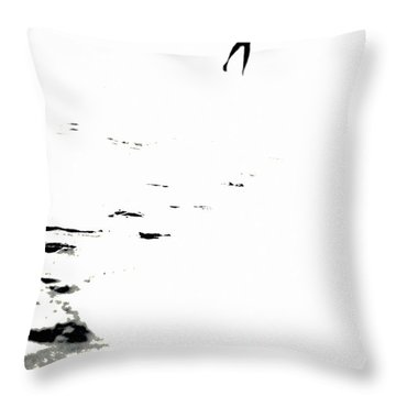 Shadow Footprints Of My Past Throw Pillow by Jenny Rainbow
