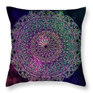 Shadow Mandala Throw Pillow