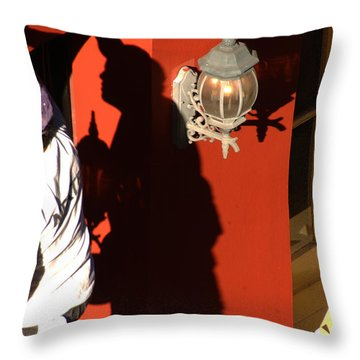 Shadow Painter Throw Pillow