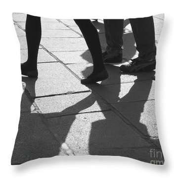 Throw Pillow featuring the photograph Shadow People by Victoria Harrington