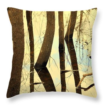 Shadow Trees Throw Pillow by Marty Koch