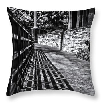 Throw Pillow featuring the photograph Shadow Walk by Tom Gort