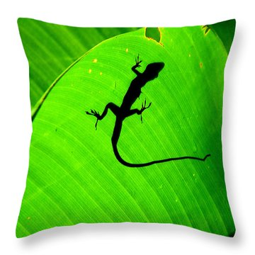 Shadowlizard Throw Pillow