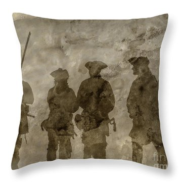Shadows Of The French And Indian War Throw Pillow by Randy Steele