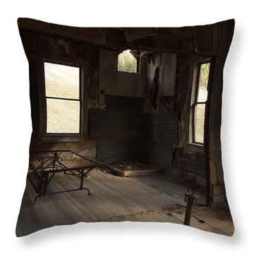 Throw Pillow featuring the photograph Shadows Of Time by Fran Riley