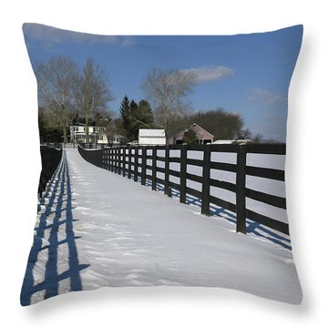 Shadows On The Farm Throw Pillow