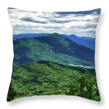 Shadows On The Mountains Throw Pillow